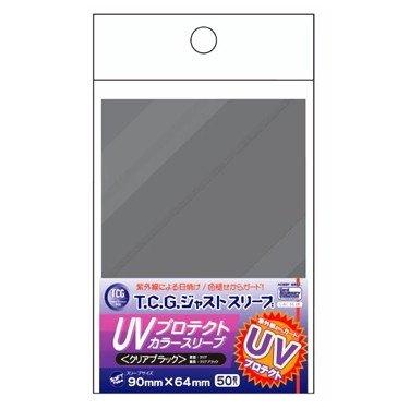 TCGジャストサイズ UVプロテクトカラースリーブ<クリアブラック>(50枚入)