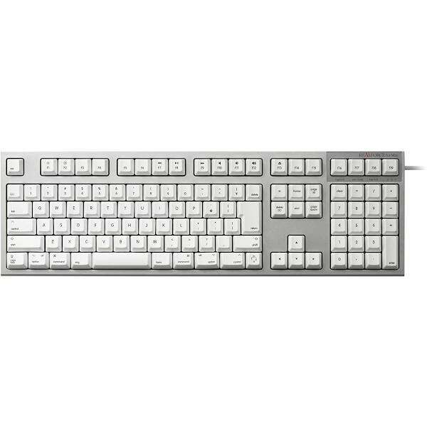 REALFORCE for Mac 日本語 フルキーボード (112配列 標準 Mac) KT白 昇華印刷 変荷重