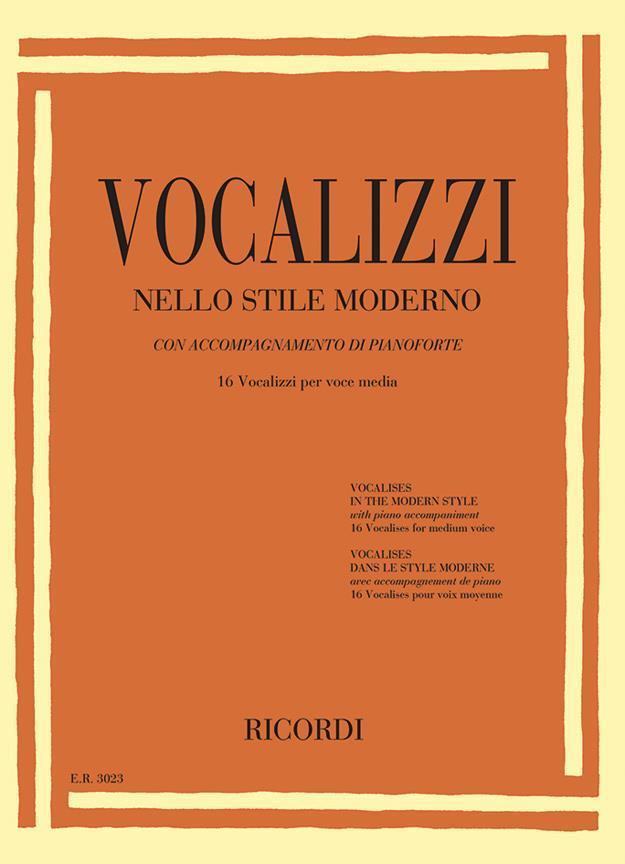 【輸入楽譜】近代的なヴォカリーズ: 16 Vocalizzi Per Voce Acuta(中声用)画像