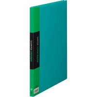 キングジム クリアーファイル カラーベース A4 S型 20枚 132C 緑