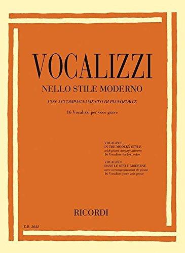 【輸入楽譜】近代的なヴォカリーズ: 16 Vocalizzi Per Voce Acuta(中/低声用)画像