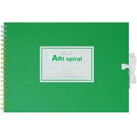 マルマン スケッチブック アートスパイラル F1 厚口画用紙 24枚 グリーン S311-33