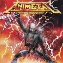 ヘヴィメタバンド アニメタル (ANIMETAL)の「愛をとりもどせ!!」を収録したCDのジャケット写真。
