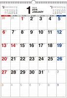 書き込み式シンプルカレンダー B3タテ(2019年)