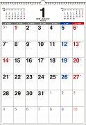 書き込み式月曜始まりシンプルカレンダー B3タテ(2019年)