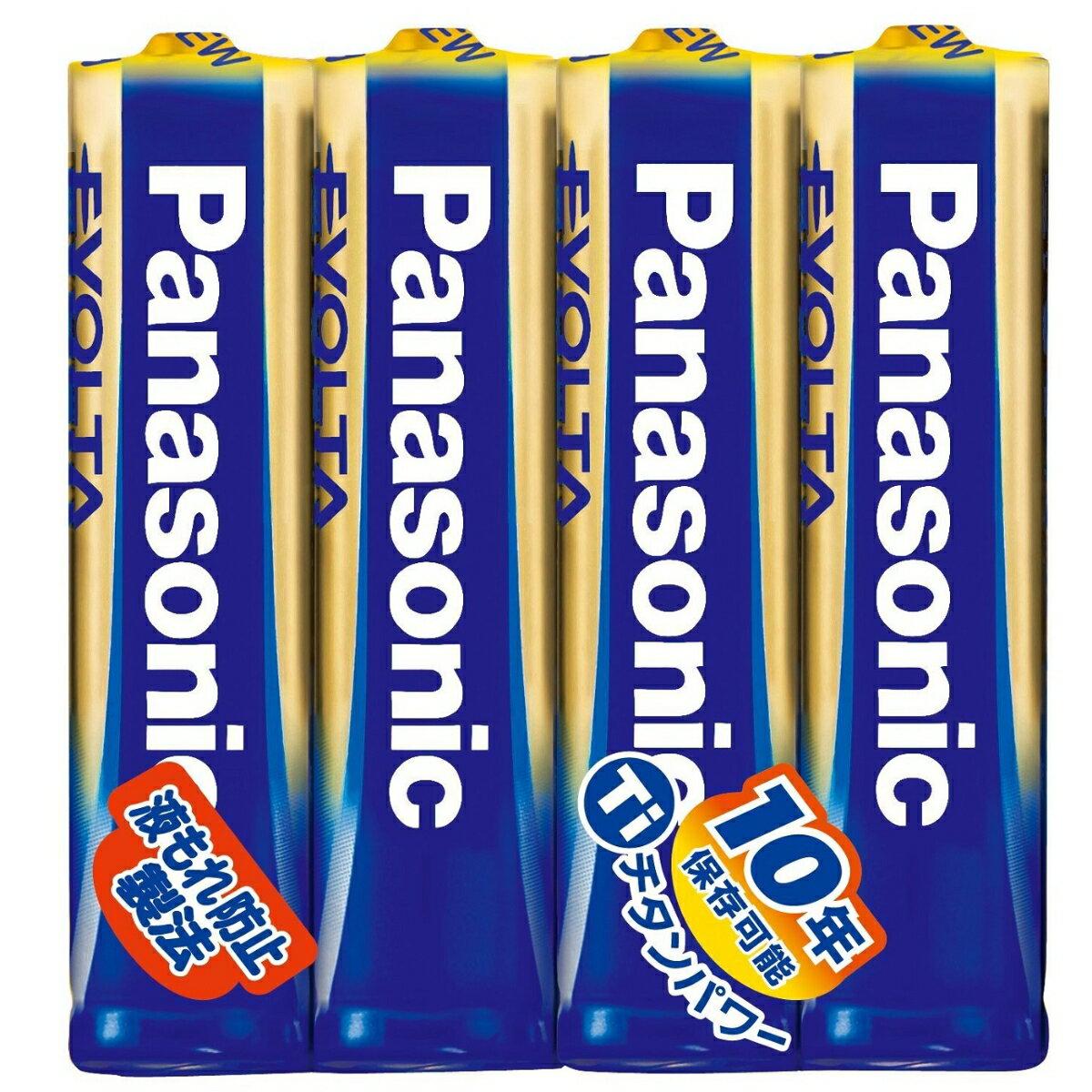 Panasonic エボルタ乾電池 単4形 4本シュリンクパック LR03EJ/4SE