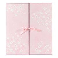 ミドリ 色紙 両開き カラー色紙 リボン 桜柄 33146006