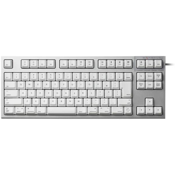 REALFORCE TKL for Mac 日本語 テンキーレスキーボード (91配列 標準 Mac) KT白 昇華印刷 変荷重