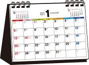 シンプル卓上カレンダー(A6ヨコ/カラー)(2019年)