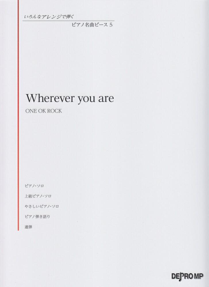 本・雑誌・コミック, 楽譜 Wherever you areONE OK ROCK