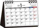 シンプル卓上カレンダー(月曜始まりA6ヨコ)(2019年) ...