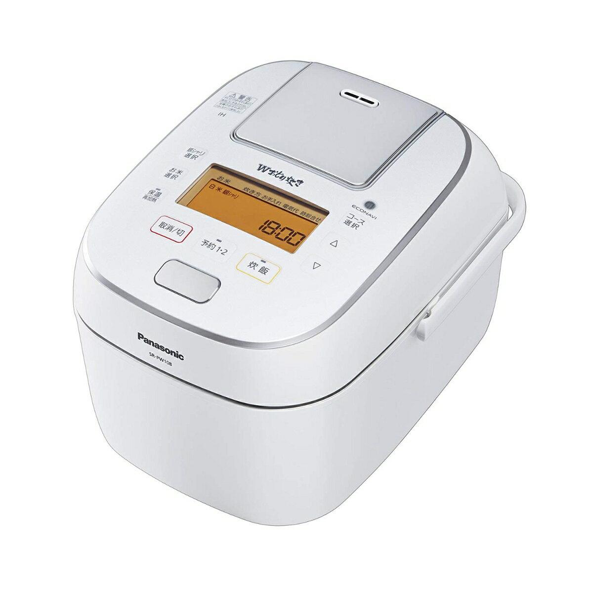 Panasonic 可変圧力IHジャー炊飯器 1.0L (ホワイト) SR-PW108-W