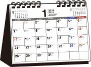書き込み式月曜始まりシンプル卓上カレンダー(B6ヨコ)(2019年)