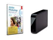 【楽天限定】Photoshop Elements 10 日本語版 MLP + ドライブステーション USB2.0用 外付けHDD 2TB セット