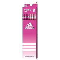 三菱鉛筆 アディダス 鉛筆 12本 B 六角軸 ピンク K5589B