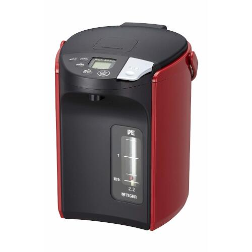 タイガー魔法瓶 蒸気レスVE電気まほうびん とく子さん 2.2L レッド PIP-A220R