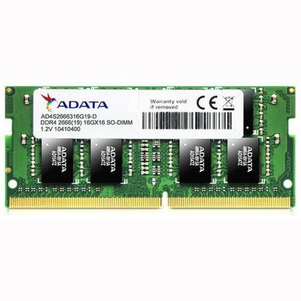 ADATA メモリーモジュール(ノートCPU用 SO-DIMM) PC4-21300(DDR4-2666) 8GB