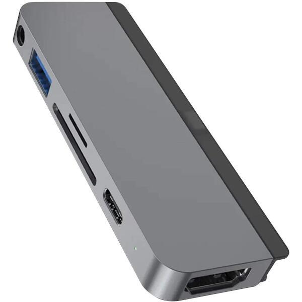 HyperDrive iPad Pro専用 6-in-1 USB-C Hub スペースグレー