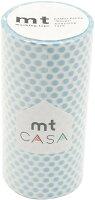 カモ井加工紙 マスキングテープ mt CASA 100mm ドット・アイス MTCA1101