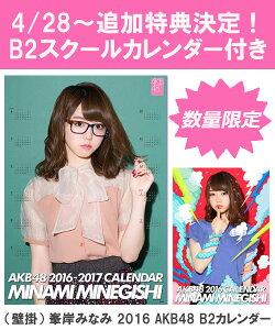 (壁掛) 峯岸みなみ 2016 AKB48 B2カレンダー【生写真(2種類のうち1種をランダム…