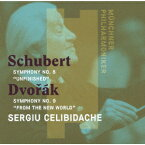 シューベルト:交響曲 第8番「未完成」 ドヴォルザーク:交響曲 第9番「新世界より」 [ セルジュ・チェリビダッケ ]