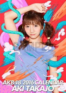 (壁掛) 高城亜樹 2016 AKB48 B2カレンダー【生写真(2種類のうち1種をランダム封…