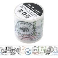 包む マスキング デザインテープ スタンプ 45mm 9-100-8