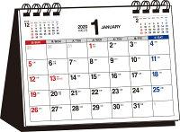 書き込み式シンプル卓上カレンダー(A6ヨコ)(2020年) ([カレンダー])
