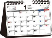 2020年 シンプル卓上カレンダー[月曜始まり/B6ヨコ]