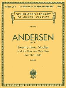 【輸入楽譜】アンデルセン, Joachim: 24の練習曲 Op.21 [ アンデルセン, Joachim ]