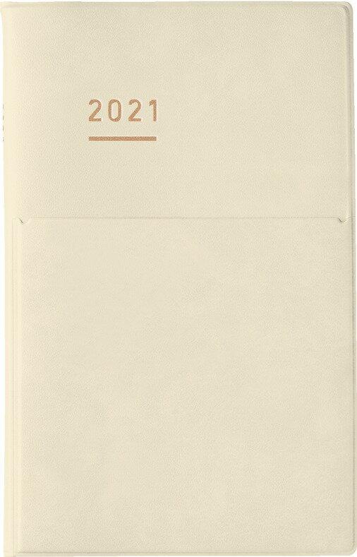 コクヨ 手帳 2021年ジブンmini2021DIARY クリーム (2020年11月始まり)画像