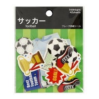 学研ステイフル 色紙 シール フレーク サッカー M04251