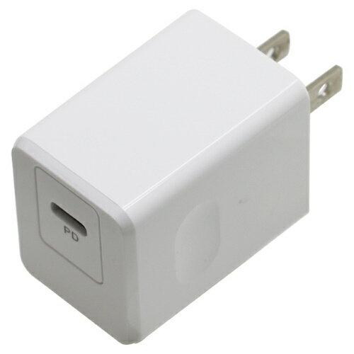 PD対応 Type-Cポート AC充電器 18W ホワイト