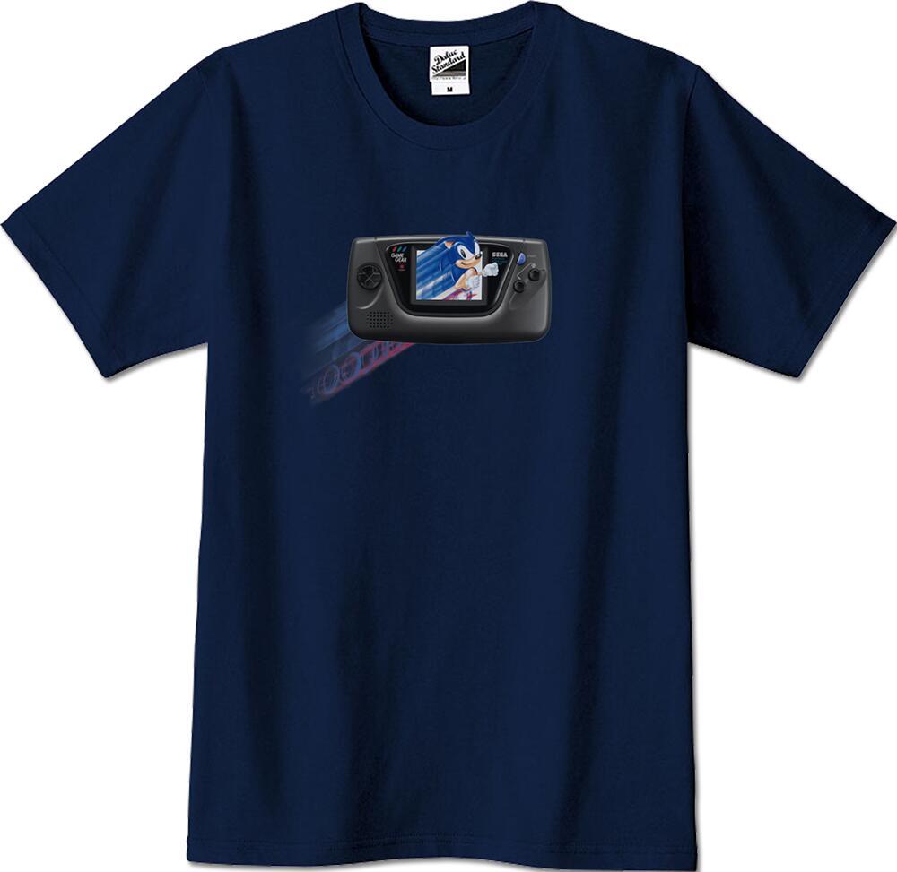 ほぼ実物大「ゲームギア&ソニック」Tシャツ XLサイズ