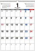 2021年 書き込み式月曜始まりシンプルカレンダー[B3タテ]