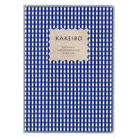 ダイゴー 家計簿 ギンガムチェック チェック柄 B5 ブルー J1238