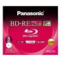 Blu-rayディスク25GB2x/書換/ワイドプリンタブル5枚