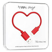 happy plugs Lightningケーブル 2.0m Apple認証 レッド LIGHTNING-USB-CABLE-RED9901