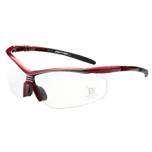 EYE CARE GLASS PREMIUM (保護メガネ) FEATHER02 Premium RED
