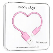 happy plugs Lightningケーブル 2.0m Apple認証 ピンク LIGHTNING-USB-CABLE-PINK9902