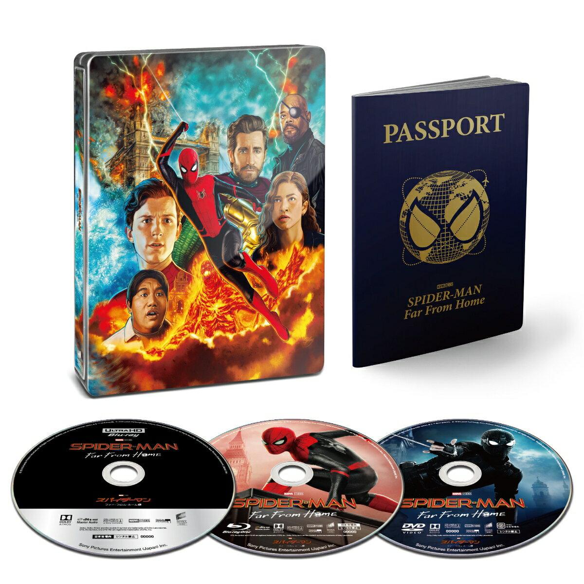 【楽天ブックス限定商品】スパイダーマン:ファー・フロム・ホーム ブルーレイ&DVD&4K ULTRA HD スチールブック仕様(完全数量限定)(75mm缶バッジ3個セット付き)【4K ULTRA HD】