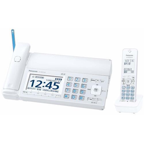 Panasonic デジタルコードレス普通紙ファクス(子機1台付き)(ホワイト) KX-PD725DL-W