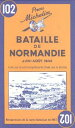 【送料無料】Michelin Map Battle of Normandy 102 [ Michelin Travel Publications ]