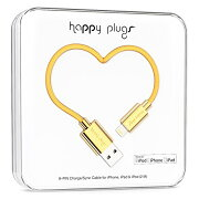 happy plugs Deluxe Edition Lightningケーブル 2.0m Apple認証 ゴールド9910 022678