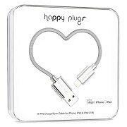 happy plugs Deluxe Edition Lightningケーブル 2.0m Apple認証 シルバー9911 022708