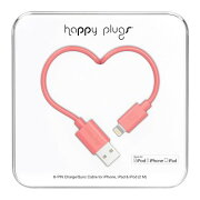 happy plugs Lightningケーブル 2.0m Apple認証 コーラル LIGHTNING-USB-CABLE-CORAL9913