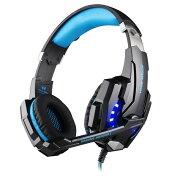 ゲーミングヘッドセットG9000 nintendoswitchフォートナイトボイスチャット対応 青