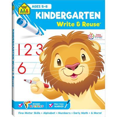 洋書, BOOKS FOR KIDS Kindergarten Ages 5-6 KINDERGARTEN AGES 5-6 Write Reuse Spiral Binder School Zone