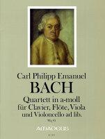 【輸入楽譜】バッハ, Carl Philipp Emanuel: 四重奏曲 イ短調 Wq 93/Reidemeister編: スコアとパート譜セット