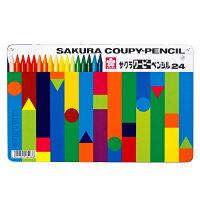 サクラクレパス クーピーペンシル 24色 缶入 FY24